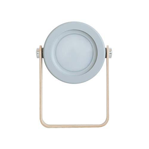 Huguo LED Plegable táctil dimmable Lectura luz Nocturna lámpara Linterna portátil USB Recargable para niños Regalo Dormitorio Junto a la Cama Gray