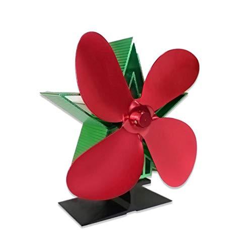 Ventilador de Chimenea de Navidad Europeo y Americano Suministros térmicos Ventilador de Estufa para protección de sobrecalentamiento de Quemador de leña - Rojo