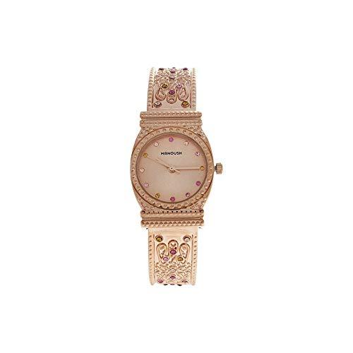 Manoush Unisex Analog Quarz Uhr mit Edelstahl Armband MSHMIRG