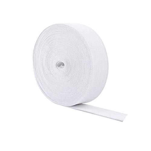 5 Meter weiß 3CM breit Polyester Elastische Schnur Flache Geflochtene Gummiband Stretchfaden String Gestrickte Elastische Bandspule Kleidung Machen Zubehör für Kleidung DIY Handwerk