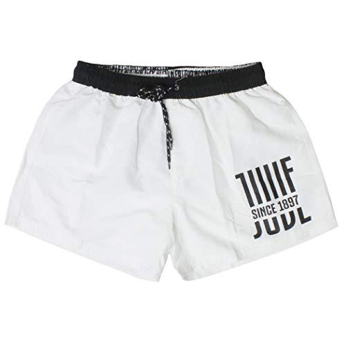 JUVE Costume Uomo Boxer Pantaloncino in Nylon Juventus Prodotto Ufficiale Nuova Collezione Art. JU19005 (Bianco, L)