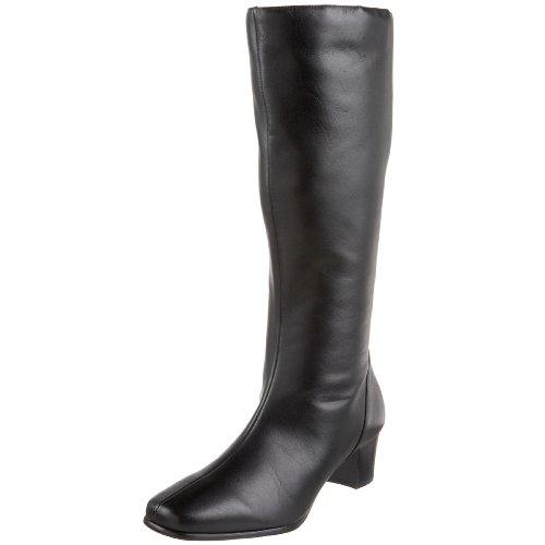 David Tate Women's Valentine Boot,Black Leather,6 WW US