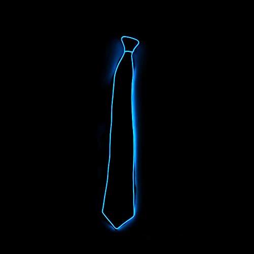 LED Krawatten Einstellbar Leucht Krawatten, Fun Party Dekoration Glowing Beleucht Krawatten (Dunkelblau)