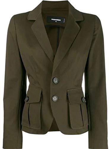 Luxury Fashion | Dsquared2 Dames S75BN0661S39021697 Groen Elasthaan Blazers | Herfst-winter 19