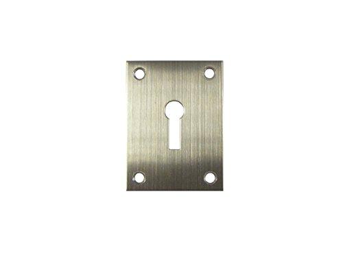 Flat Plate Screw On Escutcheon Euro - Keyway - Blank (Key Way)