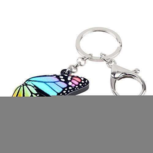 YASIKU Schlüsselanhänger aus Acryl, bunt, Flügel, Schmetterling, Schlüsselanhänger, modisch, für Frauen/Mädchen, mit Anhänger, 1