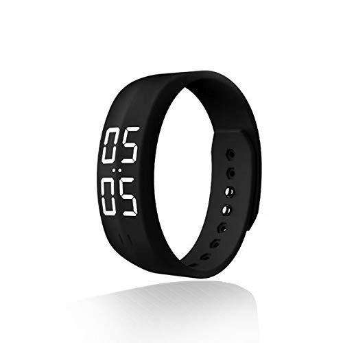 LEBEXY Schrittzähler Pedometer Einfach|Fitness Armband Wasserdicht Fitnessarmband mit Uhr Ohne Bluetooth Ohne APP Zum Joggen
