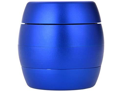 SweedZ Triturador de polen para especias, tabaco, hierbas, especias, café, 4 piezas, azul metálico