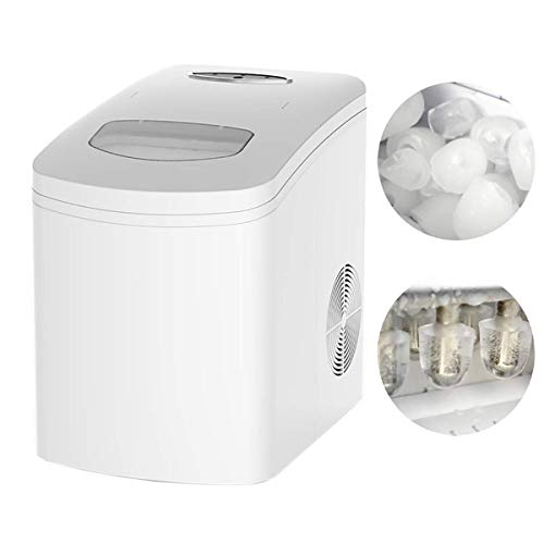Ice Maker Machine Counter Top Home, ijsblokjes Klaar in 7 min, Laat 10KG ijs in 24 uur, LED-indicator licht Perfect for partijen Gemengde Dranken QIANGQIANG