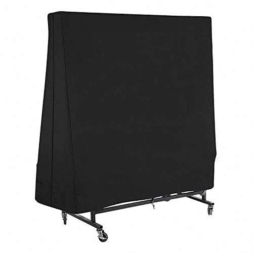 lINOC Funda de Mesa de Tenis de Mesa Impermeable Funda Protectora para Mesa de Ping-Pong Resistente al Polvo Negro 160×36×160cm