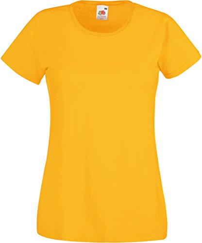 Fruit of the Loom: Lady-Fit Valueweight T 61-372-0, talla: M (12); color: girasoles
