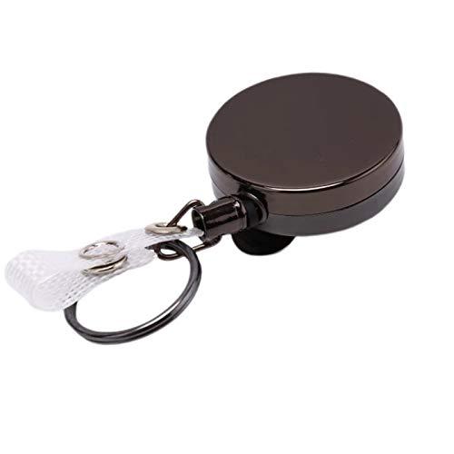 Llavero extensible de alambre de metal con cinturón adecuado para colgar llaves juntas para hombres, coche o llaves para mujer