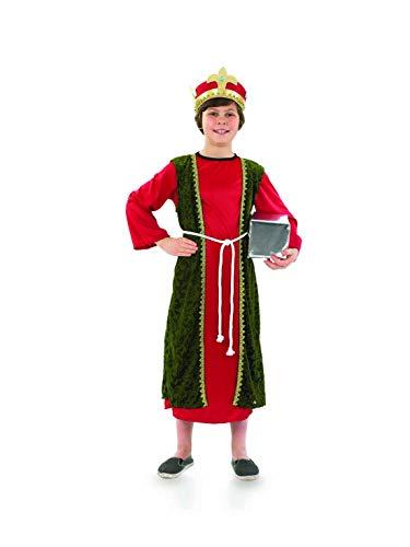 Fun Shack Disfraz de Rey Mago para nio. Conjunto Rojo navideo de Reyes Magos, Talla M