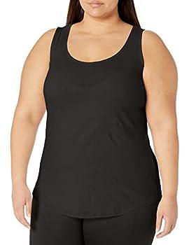 Just My Size Women s Shirt-Tail Tank Top Black 2X