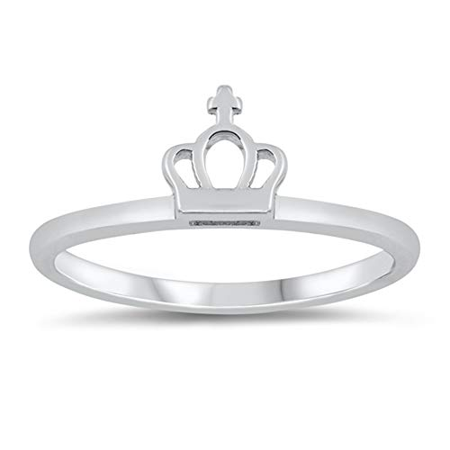 Wholesale Simple Religious Crown Cross Ring New .925 Sterling Silver Band