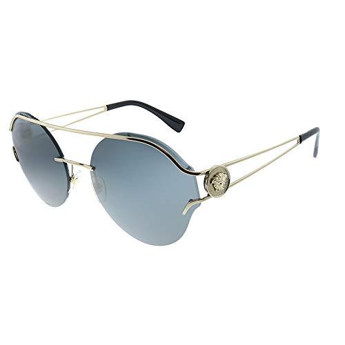 Versace 0VE2184, Gafas de Sol para Mujer, Marrón (Gold/Grey), 61