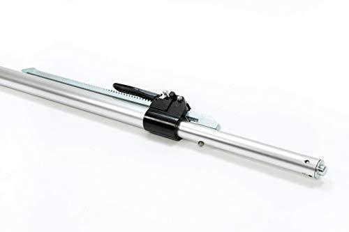 LOADCARE 1 x Aluminium-Klemmbalken für PKW/PKW Alu-Klemmbalken, 1,30-1,67 m Einsatzbereich,Zapfen für Airlineschienen