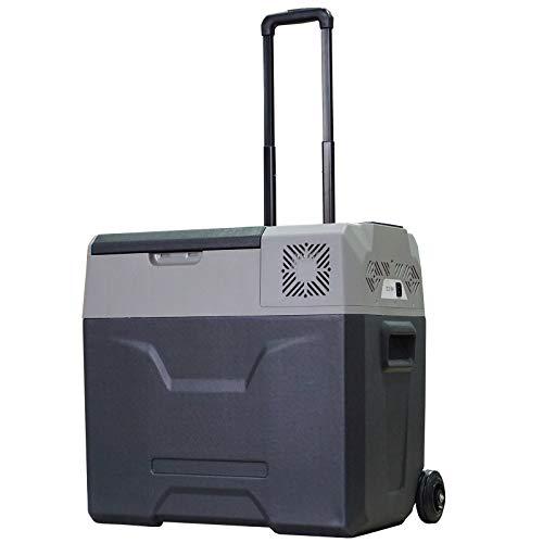 Homcom Glacière-congélateur Portable à Compression Froid Chaud 2 en 1-20°C - 20°C 50 L Prise alume-Cigare + Adaptateur Inclus Gris Noir