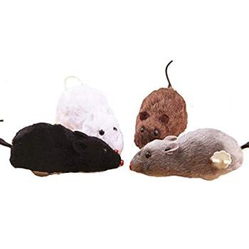 Jouets Chats interactif Pet Trick Jouer Jouet Jouet mécanique sans Fil Remontoir Souris Chat Jouet for Chat Chien en Peluche Rat mécanique Rats Mouvement Kitty Jouets (Couleur : Random)