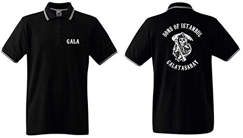 Sons of Istanbul Herren Polo-Retro Galatasaray Ultras