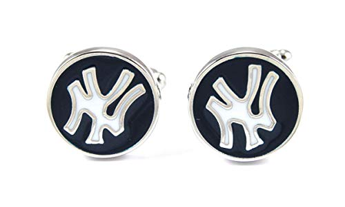 Gemelolandia | Gemelos New York Yankees Retro Gemelos Originales Para Camisas | Para Hombres y Niños | Regalos Para Bodas, Comuniones, Bautizos y Otros Eventos