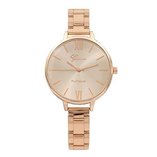 HBR Orologio Regina di vigilanza del Quarzo delle Donne in Acciaio Inox Multifunzione delle Donne Corte Quarzo dell'Acciaio Inossidabile Sport Watch Orologio alla Moda (Color : C)