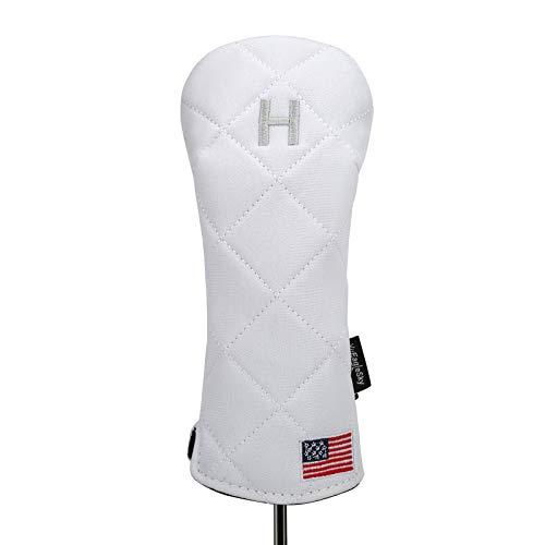 YuEagleSky Golf Head Cover Hybrid USA Flag for Club Mens Women (White)