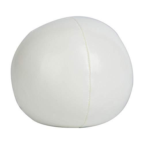 Qiilu Thud Malabares Bolas, 3 Piezas PU Bolas de Malabares Payaso Malabares Juego de Bolas para Principiantes y Profesionales(Blanco)