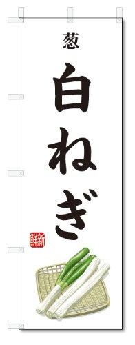 のぼり旗 白ねぎ(W600×H1800)葱・野菜