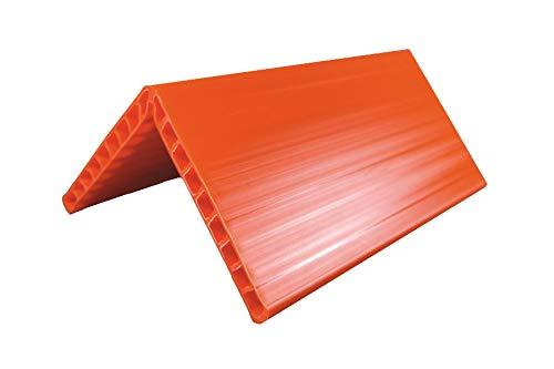 (1 Set mit 10 Stück) Kantenwinkel KUNSTSTOFF HOHLKAMMERPROFIL 800 x 190 x 190 x 19 mm zur Ladungssicherung (= Profiqualität zum Schutz von druckempfindlichen Waren oder Verpackungen im Kantenbereich)