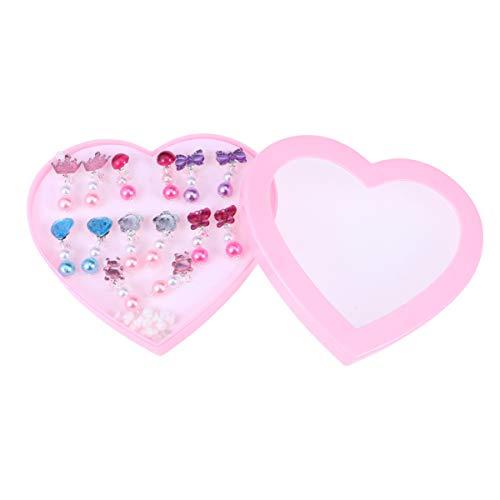 TINKSKY 子供 イヤリングセット クリップイヤリング 女の子 キッズ クリップオンイヤリング おもちゃ 誕生日プレゼント 7ペア 収納ボックス付き