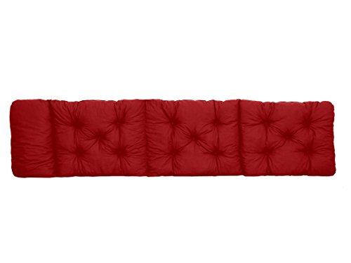 Ambientehome Deck Chair–Fregadero para Tumbona, ca 195x 49x 8cm, Cojines Acolchados, cojín, Rojo