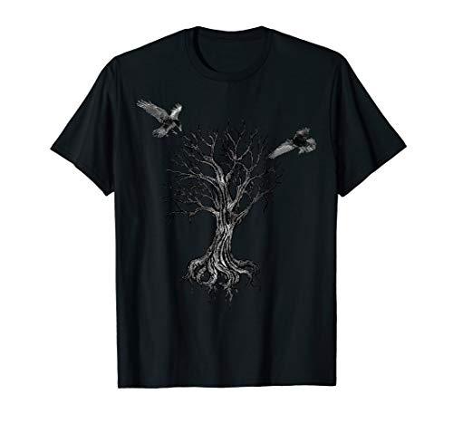 Yggdrasil Irminsul Odins Raben Hugin Munin Wikinger Midgard T-Shirt