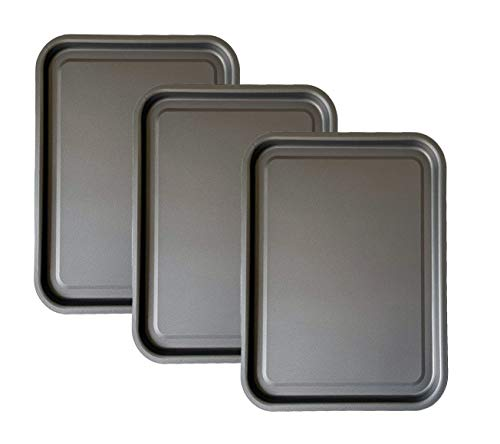 3-Pack - Essential 35cm Baking Tray Set Tray/Pan, Non-Stick, Multi-Pack Set Oven Trays - Dishwasher...
