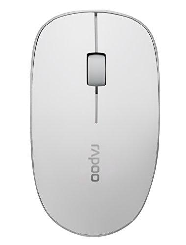 Rapoo 3510 kabellose optische Maus mit 2,4 GHz Wireless-Verbindung, 1000 DPI Sensor, klassisches Design, weiß