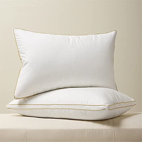 XQWLP 1 par ganso abajo almohada cuello protección almohadas for almohadas for dormir almohadas algodón shell king reina tamaño (Color : A, Size : 20x30 inch)