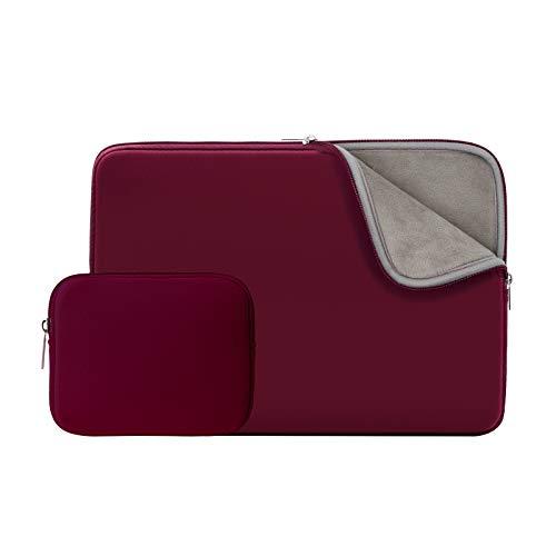 RAINYEAR 11-11,6 Zoll Laptop Hülle Sleeve Gepolsterte Laptophülle Laptoptasche Schutzhülle mit Zubehör Tasche Kompatibel mit 11,6 MacBook Air für 11 Notebook Chromebook(Rot,Aktualisierte Version)