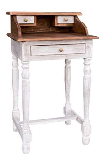 Casa Padrino Country Style Shabby Chic Escritorio Marrón/Blanco Antiguo 50 x 40 x H. 86 cm - Muebles de Estilo Campestre