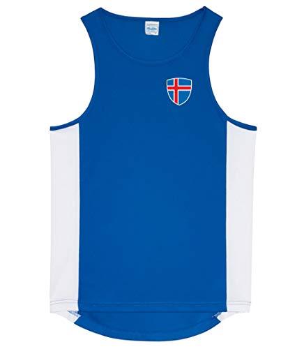 Nation Island Tank Top Trikot Ärmellos Sport Fitness ATH BR-B (XL)
