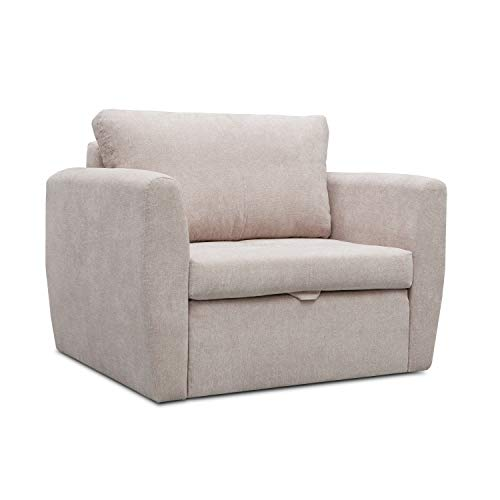 mb-moebel Sofa Sessel mit Schlaffunktion Klappsofa Bettfunktion mit Bettkasten Couch Sofagarnitur Salon Jugendzimmer SARA (Cappuccino)