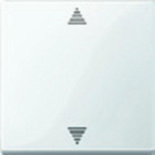 Merten MEG5215-0319 Wippe für Taster-Modul 1fach (Pfeile Auf/Ab), polarweiß glänzend, System M