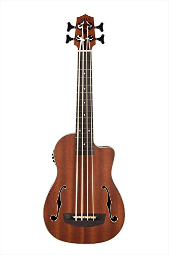 Kala UBASS-JYMN-FS Journeyman Acoustic-Electric U-Bass With F-Holes Ukelele Bass Guitar