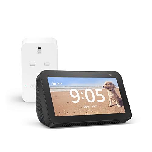Echo Show 5 (Black) + Amazon Smart Plug, Works with Alexa