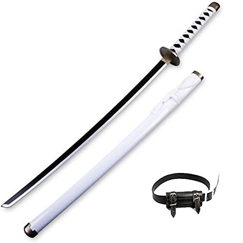 One Piece Roronoa Zoro COS Espada de madera Ninja Blade Armas Modelo de utilería con cinturón Anime Lovers Katanas Props Juguetes ABS decorativos para adultos (100cm / 39in)