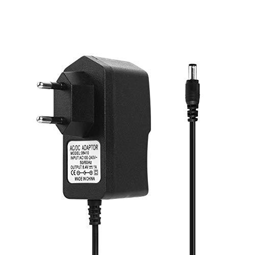 Adaptador de Fuente de Alimentación, Everpert 8.4V 1A 18650 Cargador de Batería de Litio DC5.5mm Adaptador de Corriente Cargador (UE)