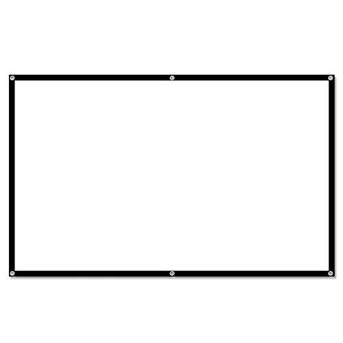 LXLTLB Plegable Pantalla HD Pantalla del Proyector Cortina de Proyección de Poliéster Cine en Casa Patio Al Aire Libre Full HD Cine en Casa Proyector Teatro en Casa,1.54x0.85m