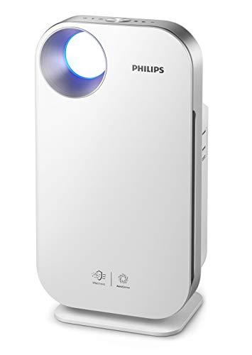 Philips Lufteiniger Connected AC4550/10 (für Allergiker, bis 104m², CADR 400 m³/h, AeraSense Sensor, mit App-Steuerung) weiß