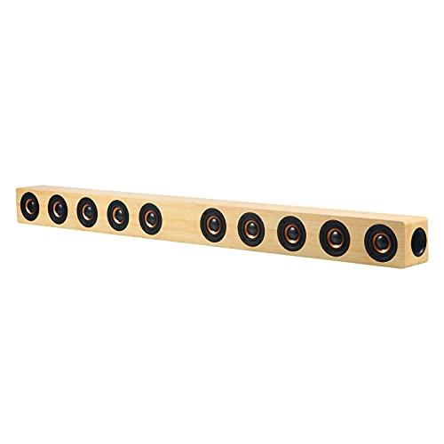 ZEIYUQI Altavoz de Pared Echo de 40W,Altavoces Inalámbricos con Bluetooth para Ordenador,Altavoces de TV,Barra de Sonido,Sistema de Centro de Música,Cine en Casa,RAC TF,Yellow