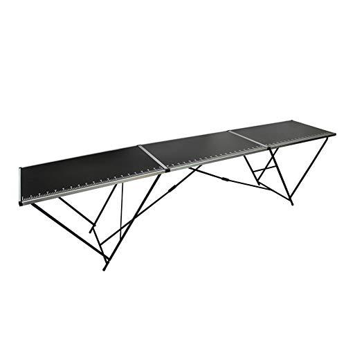 lyrlody- Mesa plegable con marca de regla, 30 kg, mesa plegable para...
