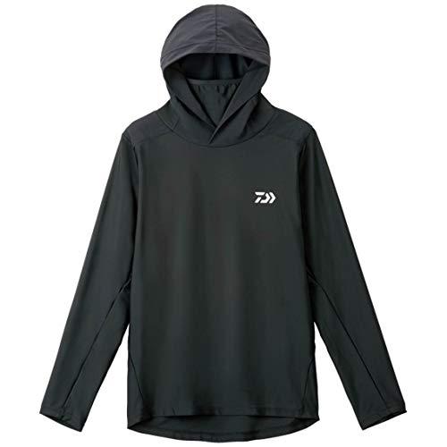 ダイワ ロングスリーブ フーディーラッシュガードシャツ DE-6207 ブラック S